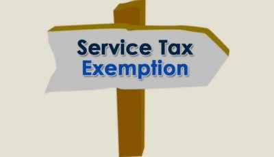 Service Tax Exemption