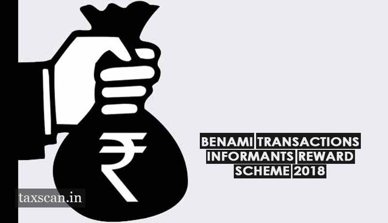 Image result for CBDT announced Benami Transactions Informants Reward Scheme, 2018