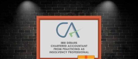 Chartered Accountant - IBBI - Taxscan
