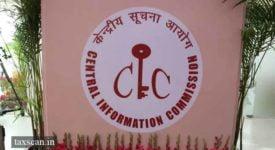 CIC - RTI - Taxscan