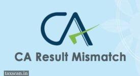 CA Result Mismatch