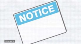 Notices - Notice - Taxscan