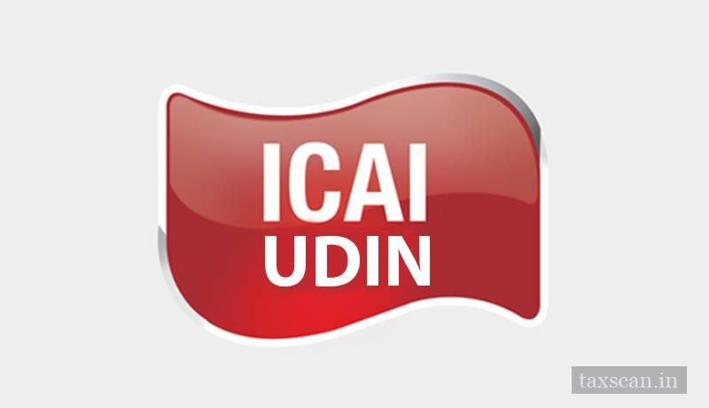 UDIN Directions - ICAI UDIN - Taxscan
