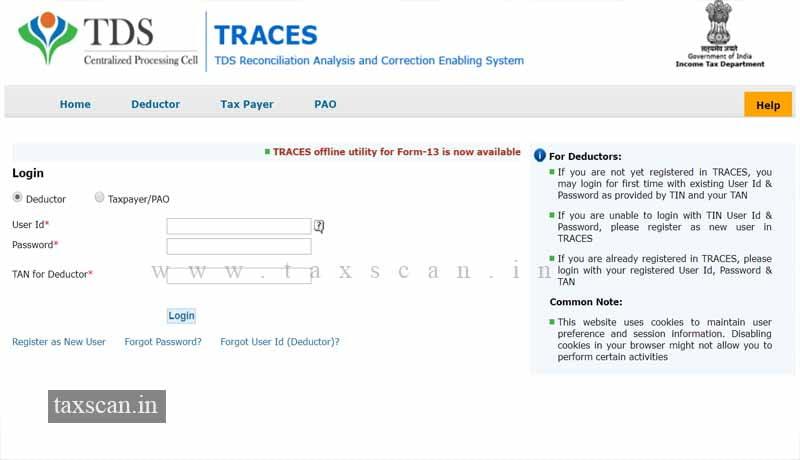 tds certificate online