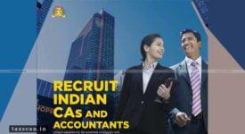 Recruitment Drive - ICAI - Taxscan