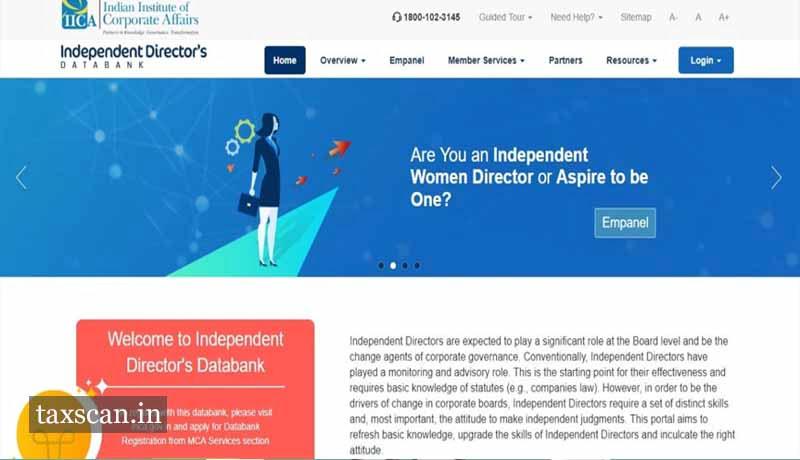 Independent Director's Databank - MCA - Taxscan