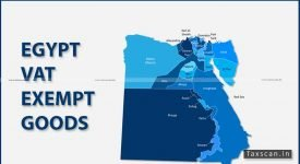 Egypt VAT Exempt Goods - Baked Snacks - VAT Act - Taxscan