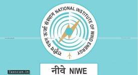 NIWE - Vacancy - CA - Taxscan