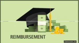 Reimbursement Capital Receipt - Taxscan