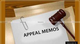 Appeal Memos - Amendments - CESTAT - Taxscan