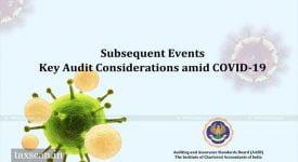 ICAI - COVID-19 - Audit Conderations - Taxscan