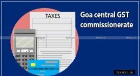 Goa Central GST -Taxscan