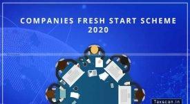 Companies Fresh Start Scheme - MCA - Taxscan