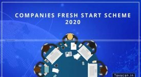 DIN - DSC - Companies Fresh Start Scheme 2020 - condonation - Taxscan