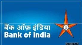 bank of india - CA - CFA - taxscan