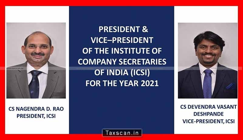 ICSI New Committee - ICSI-new-President-Vice-President-for-the-year-2021-Taxscan