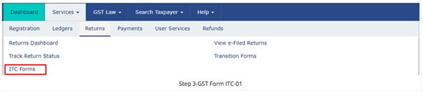 1 ITC 01 - ITC on New GST Registration - ITC 01 - Taxscan