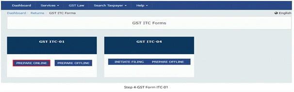 2 ITC 01 - ITC on New GST Registration - ITC 01 - Taxscan