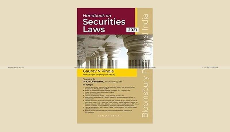Handbook on Securities Laws - Taxscan