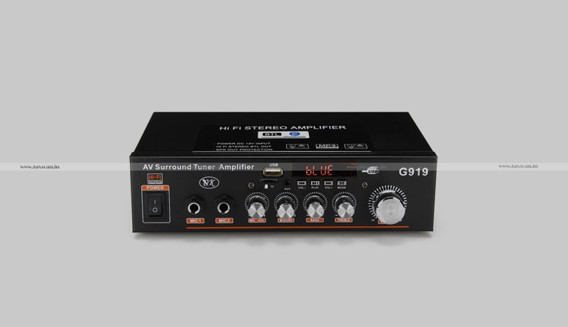 GST - Audio Receiver or Transceiver & Amplifier - AAR - Taxscan